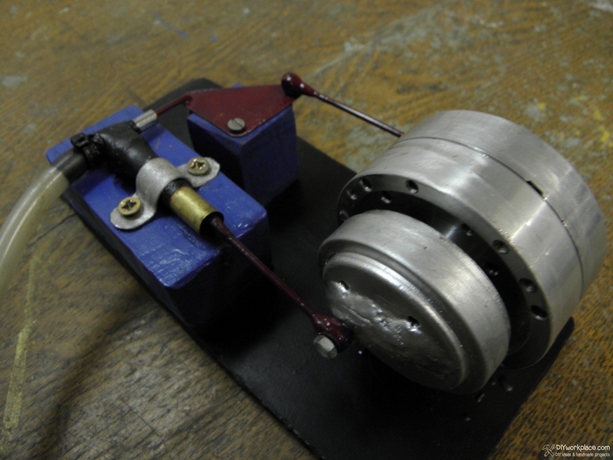 Как сделать паровой двигатель из банк