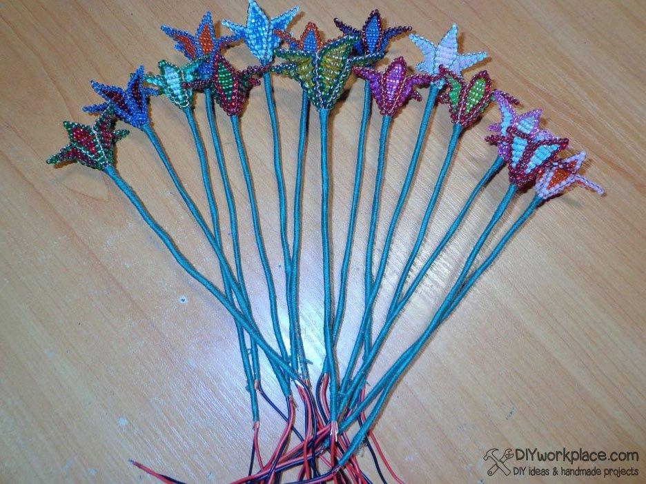 Как сделать стебель цветка