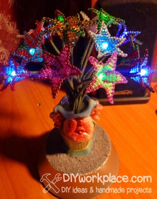 Цветы из бисера с подсветкой своими руками