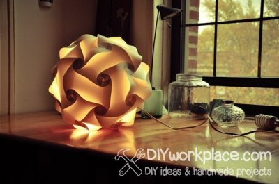 How to make big LED paper ball