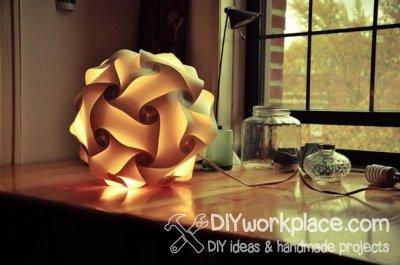 Светящийся шар из бумаги своими руками