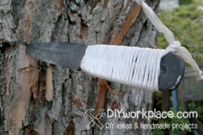 Homemade throwing knife