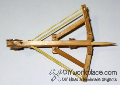 Diy mini crossbow