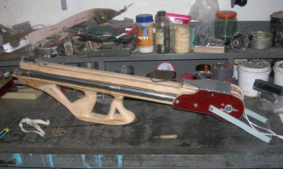 How to make a spring crossbow