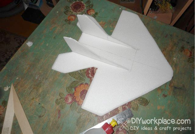 how to make foam fuselage