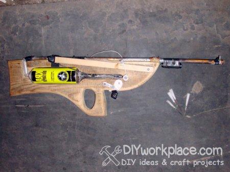 Пружинно поршневая винтовка - дротикомёт
