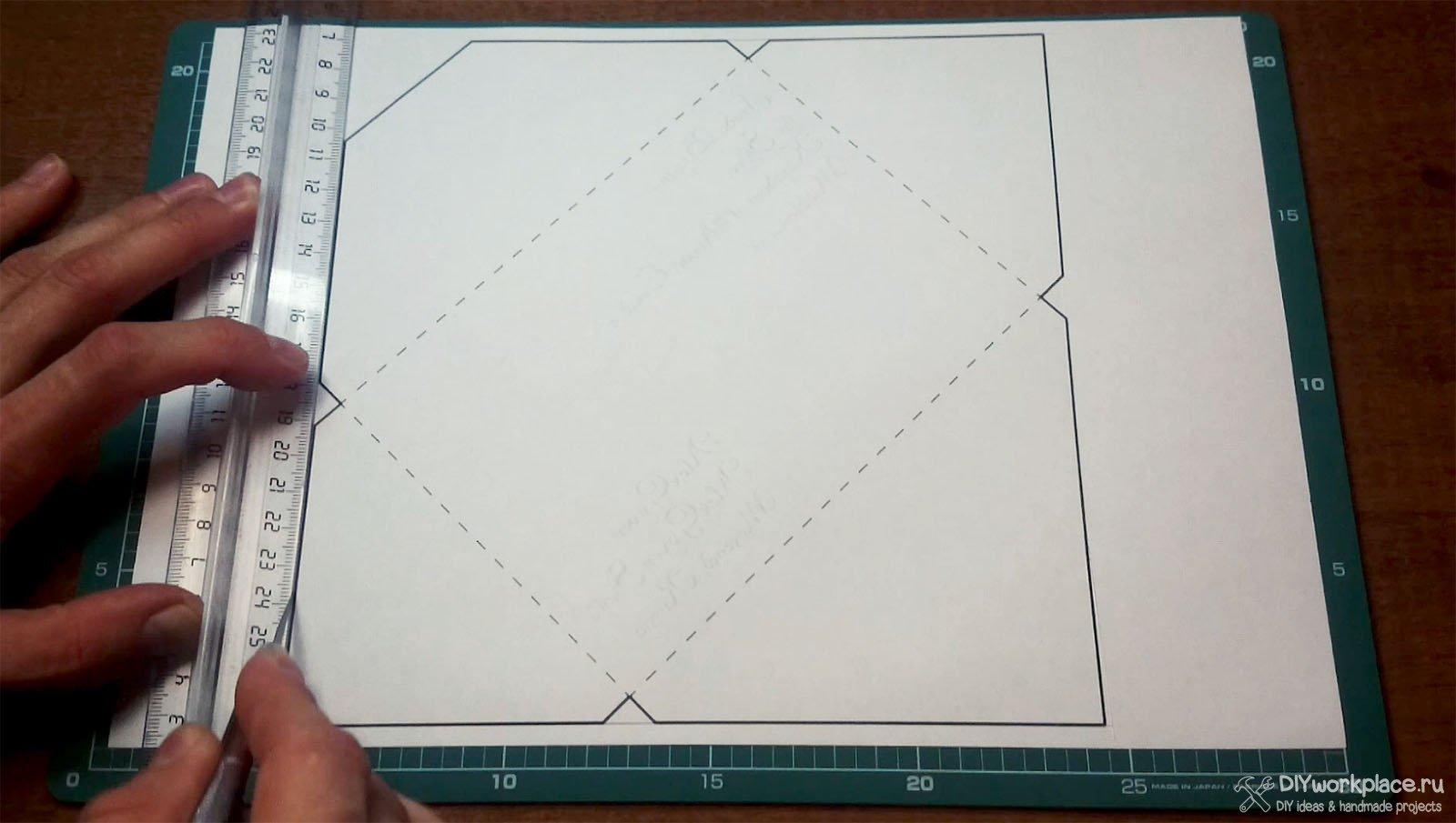 Как сделать конверт из бумаги а4 без клея и ножниц фото